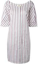 Isa Arfen scoop neck striped dress - women - Cotton - 10