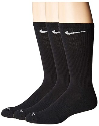 Nike Everyday Plus Cushion Crew Socks 3-Pair Pack (Black/White) Crew Cut Socks Shoes