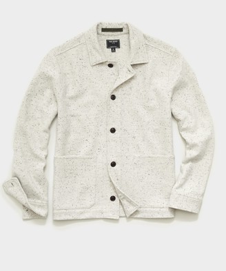 Todd Snyder Italian Donegal Knit Chore Coat in Cream