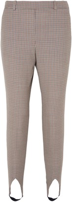 Givenchy Checked Wool Tapered Stirrup Pants