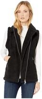 Lauren Ralph Lauren Shearling-Trim Vest (Polo Black) Women's Clothing
