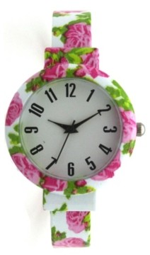 Olivia Pratt Floral Bangle Watch
