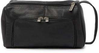 David King & Co Large U Shaped Leather Shave Bag