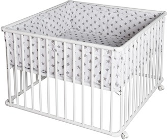 Schardt BasicPlaypen 100x 100cm with Mattress with Stars Grey