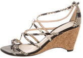 Alexandre Birman Snakeskin Wedge Sandals