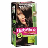 Garnier HerbaShine Color Creme with Bamboo Extract, Dark Natural Brown 400