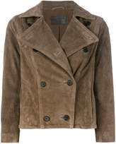 AllSaints cropped double-breasted jacket