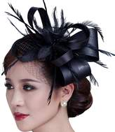 Sheliky Fascinator Flower Cocktail Party Headdress Wedding Bridal Headpiece for Women
