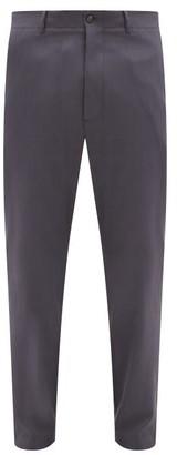 Rochas Wool-blend Gabardine Trousers - Silver