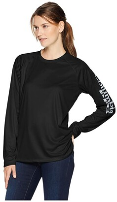 Columbia Tidal Teetm II L/S (Black/Cirrus Grey) Women's Long Sleeve Pullover
