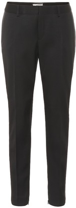 Saint Laurent Low-rise skinny wool tuxedo pants