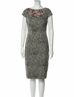 Lela Rose Bateau Neckline Knee-Length Dress w/ Tags Rose
