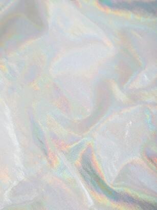 Norma Kamali Marissa Iridescent Scoop-back Swimsuit - Silver