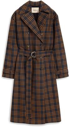 Mulberry Lindsey Coat Dark Navy Technical Check