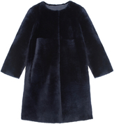 Pologeorgis The Tempest Navy Fur Coat