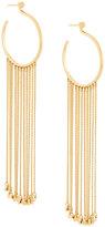 Chloé chain drop hoop earrings