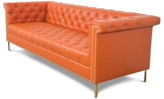 "ModShop Sinatra Nailhead Chesterfield 96"" Rolled Arm Sofa"