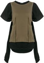 J.W.Anderson layered asymmetrical T-shirt