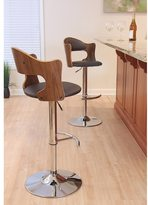 Lumisource Cello Mid-century Modern Adjustable Wood Barstool