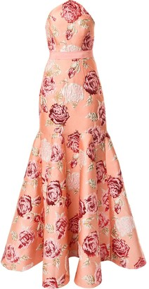 Alice McCall Heaven rose-jacquard gown