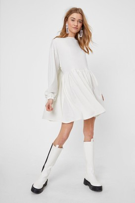 Nasty Gal Womens Smock Out the Competition Relaxed Mini Dress - Cream