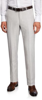 Ermenegildo Zegna Men's Wool-Linen Twill Pants