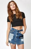 LA.EDIT Patchwork Denim Skirt