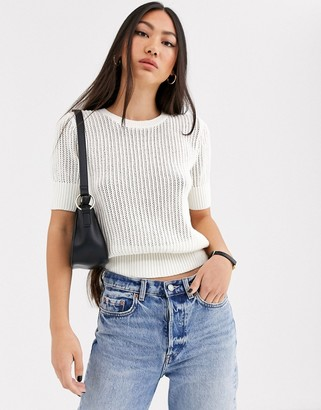 And other stories & knitted top in white