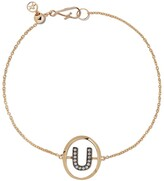 Annoushka 18kt yellow gold diamond initial U bracelet