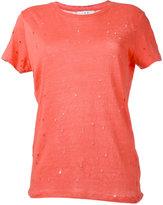 IRO nibbled T-shirt - women - Linen/Flax - M