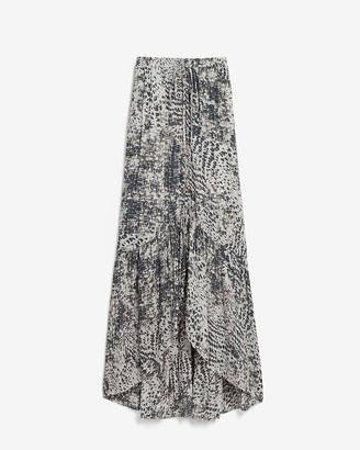 Express High Waisted Animal Print Maxi Skirt