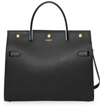 Burberry Medium Title Leather Satchel