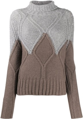 Fabiana Filippi Sequin-Embellished Knitted Jumper