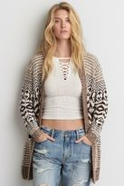 American Eagle Outfitters AE Patterned Open Cardigan