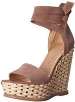 Stuart Weitzman Women's Wrapsie Wedge Sandal