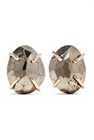 Melissa Joy Manning 14-karat Gold Pyrite Earrings - one size
