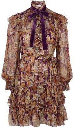 Zimmermann Ladybeetle printed silk-chiffon mini dress