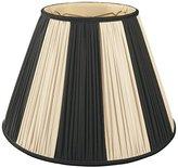 Royal Designs Beige & Black Pleated Round Designer Lampshade - 7 x 14 x 11
