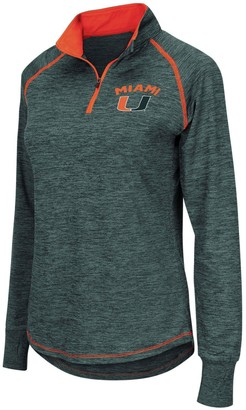 Colosseum Women's Green Miami Hurricanes Bikram Quarter-Zip Pullover Jacket