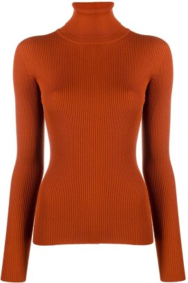 Dolce & Gabbana Virgin Wool Roll Neck Fitted Jumper