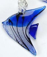 UG Fish Sapphire Necklace Adornment Pendant Jewel Jewelry Accessory Charm