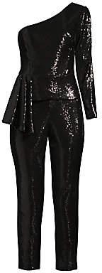 Aidan Mattox Women's Sequin Peplum Jumpsuit