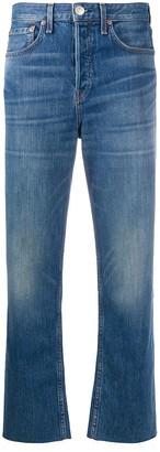 Rag & Bone Cropped High-Waisted Jeans