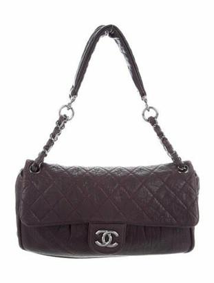 Chanel Lady Braid Flap Bag Plum