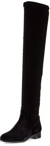 Aquazzura All I Need Stretch-Fabric Boot, Black
