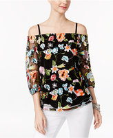 INC International Concepts Embroidered Off-The-Shoulder Peasant Top, Only at Macy's