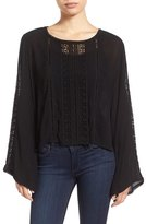 KUT from the Kloth 'Samantha' Bell Sleeve Embroidered Gauze Top