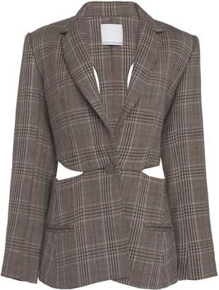 CHRISTOPHER ESBER Loophole Tie Back Wool Blazer Size: 8