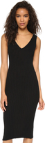 James Perse Long V Neck Sweater Dress