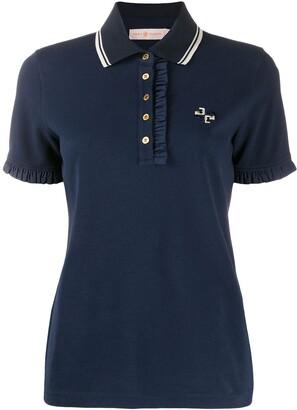 Tory Burch ruffle polo T-shirt